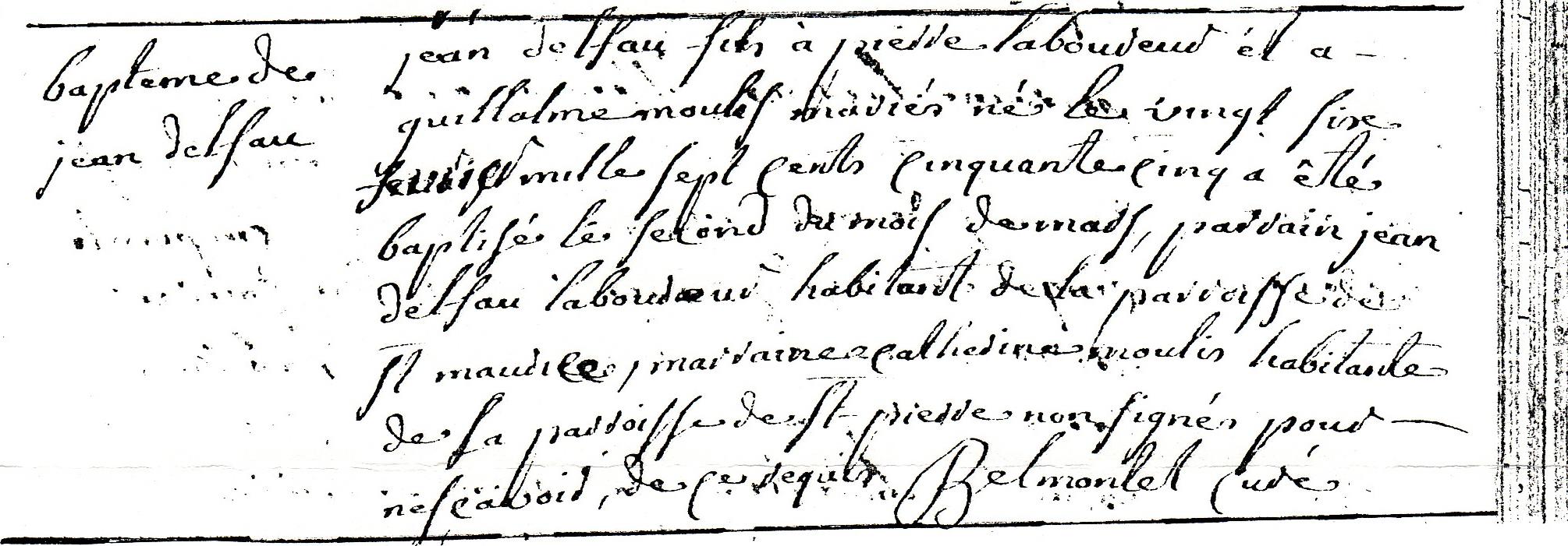 ° 1755 DELFAU Jean