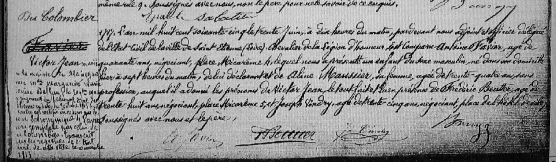 ° 1865 FAVIER Victor Jean