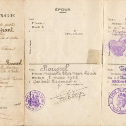 x 1944 THIRANT Maurice & ROUSSEL Marcelle